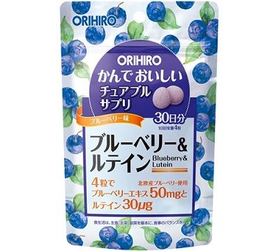 ORIHIRO Черника и Лютеин на 30 дней (вкус черники)