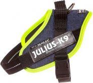 JULIUS-K9 IDC®-Powerharness Mini Шлейка для собак, джинса-зеленый неон (49-67см/ 7-15кг)