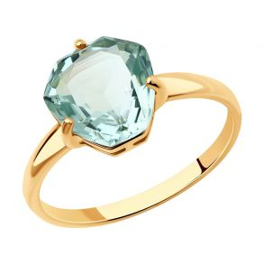 Кольцо из золота с аметистом 716077 SOKOLOV