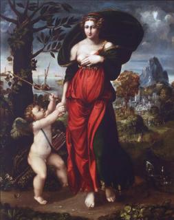 Венера и Купидон (Репродукция Баттиста Досси 1540 г.)