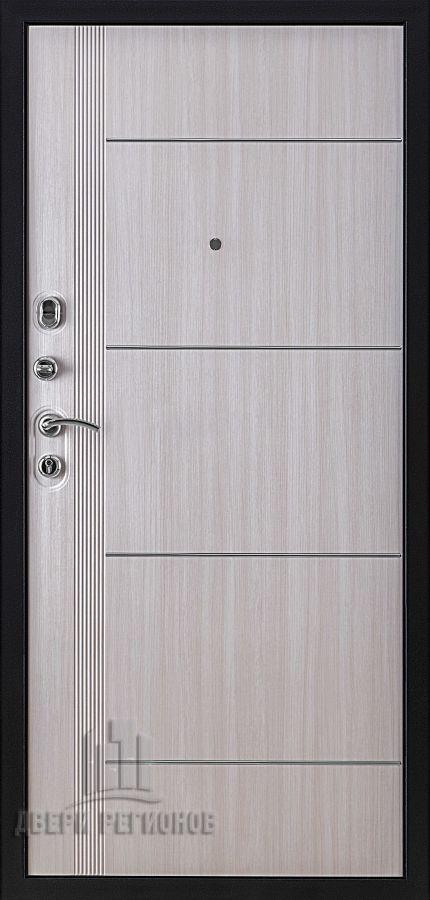 Дверь входная Цитадель 3М, цвет темное серебро антик, панель - цитадель 3м цвет дуб светлый