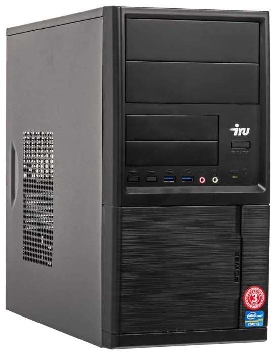 Настольный компьютер iRu Office 225 MT (1176400) Midi-Tower/AMD Ryzen 5 2400G/8 ГБ/240 ГБ SSD/AMD Radeon RX Vega 11/Windows 10 Home