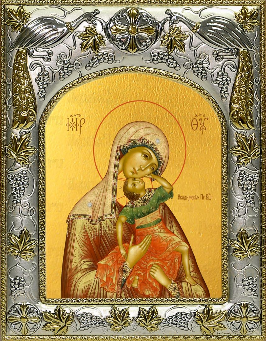 Акидимская (Взыграние Младенца) икона Божией Матери (14х18)