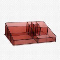 Акриловый органайзер для косметики Multi-Functional Storage Box QFY-3134, бордовый