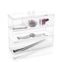 Акриловый органайзер для косметики Multi-Functional Storage Box QFY-3120, прозрачный