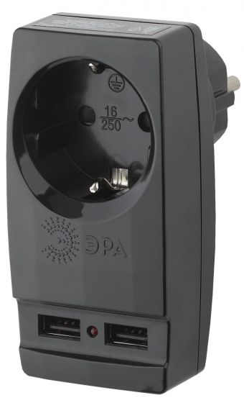 Адаптер ЭРА SP-1e-USB-B 2-USB2100mA+1-220v