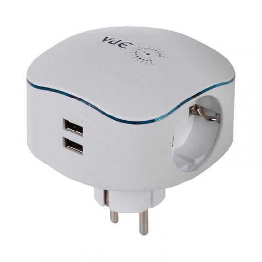 Разветвитель ЭРА SP-3e-USB-2A 16 А