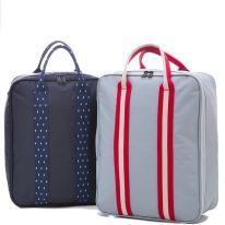 Компактная вместительная сумка для путешествий с плечевым ремнём, 28х13х36 см, серый