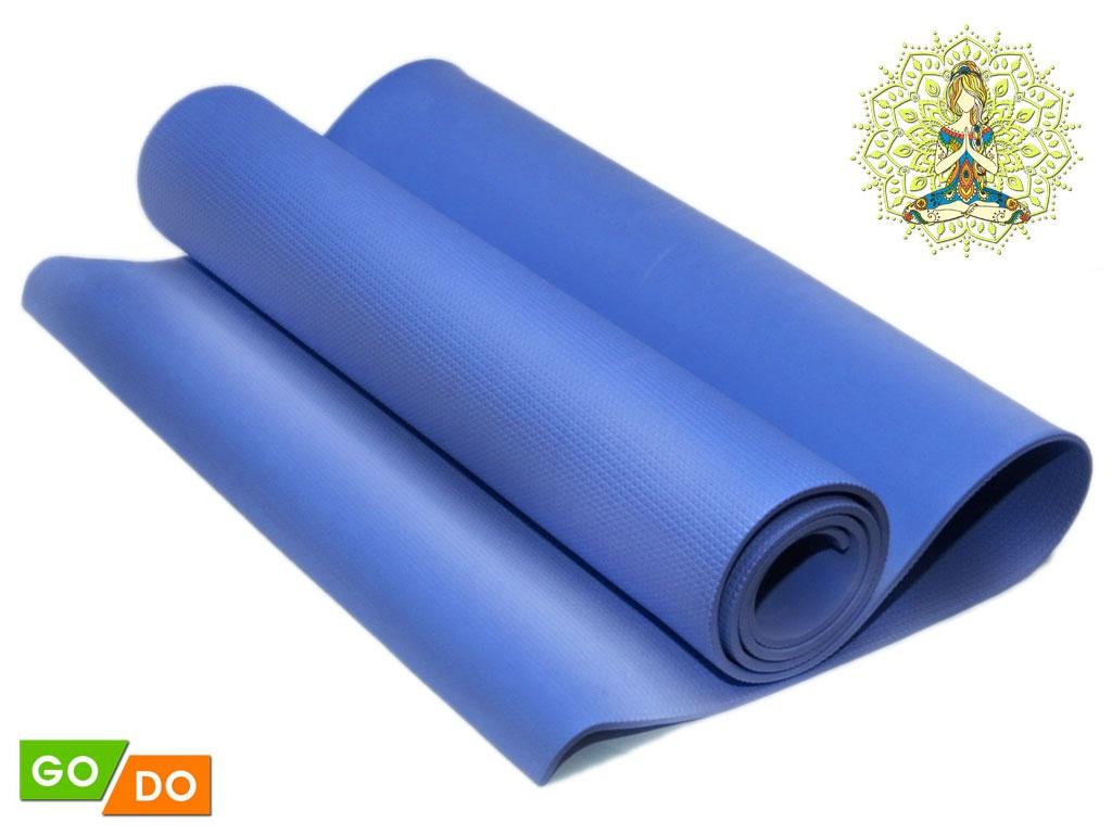 Коврик гимнастический. Цвет: синий, артикул 00069
