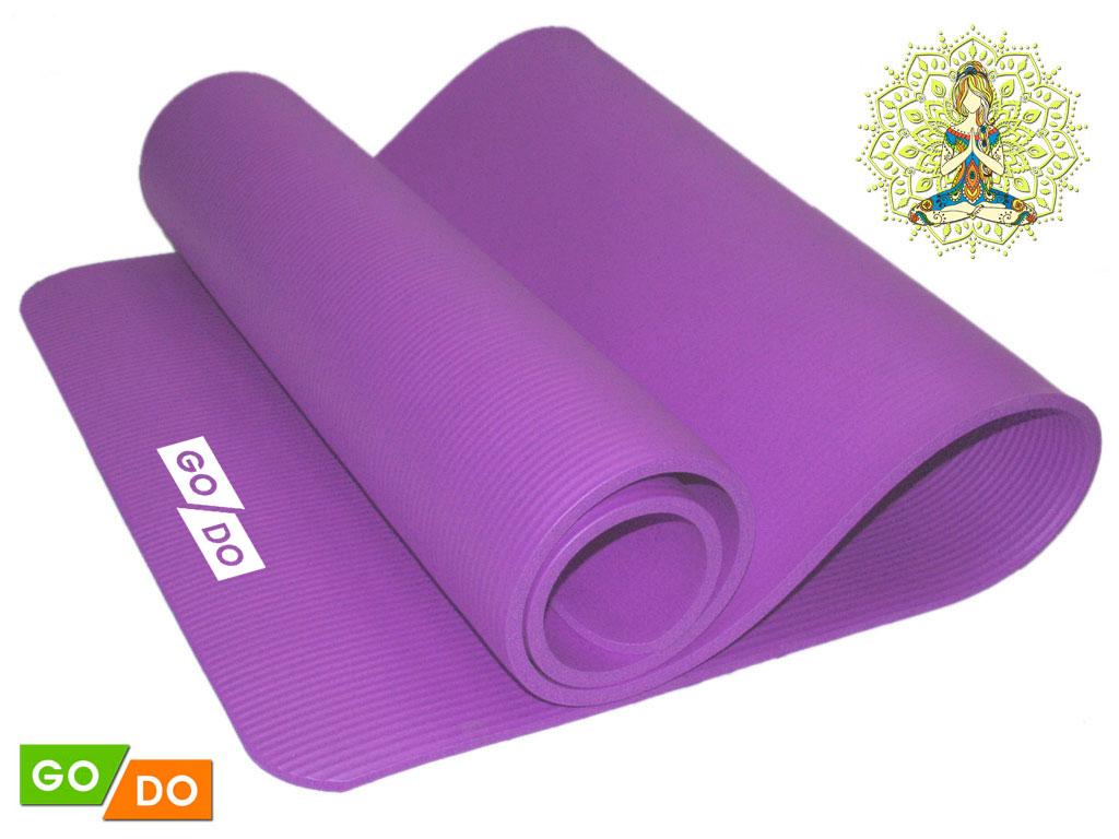 Коврик для йоги и фитнеса. Цвет: фиолетовый, артикул 31674
