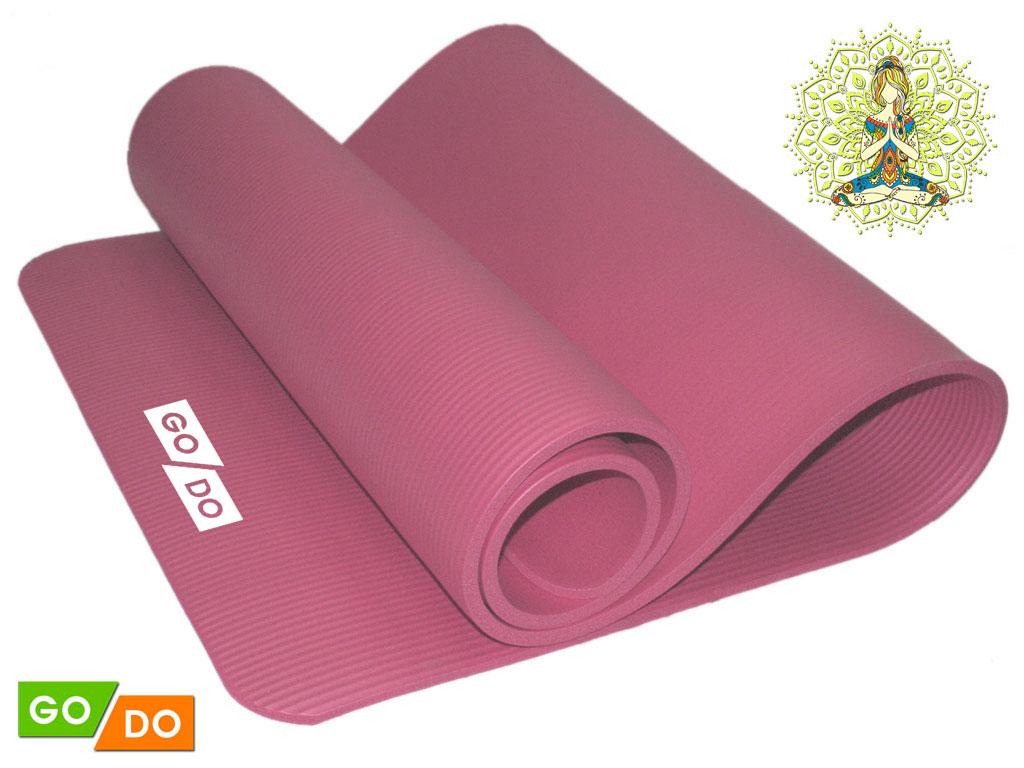 Коврик для йоги и фитнеса. Цвет: розовый, артикул 29131