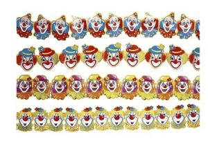 Гирлянда Клоуны (300 см. ассорти)