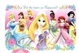 Игра с наклейками  Принцессы