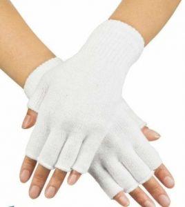 Перчатки без пальцев красные