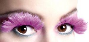Ресницы накладные Розовые перья