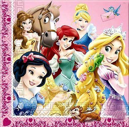 Салфетки Принцессы (16 шт)