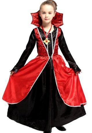 Платье Вампирши с воротом (M, детский)
