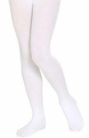 Колготки детские белые плотные, M (7-10лет)