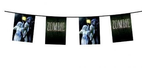 Гирлянда флажки Вечеринка Зомби