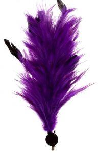 Карнавальное перо заколка, фиолетовое