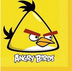 Салфетки Angry (желтая,16 шт)