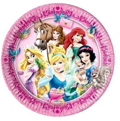 Тарелки Принцессы  (8 шт)
