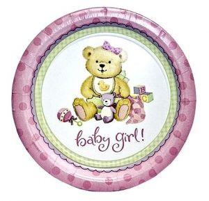 Тарелки большие Малышка Девочка (8 шт)