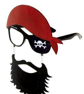 Очки Пират с бородой