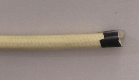 Декоративный провод круглый ПВХ 2х0,75 слоновая кость