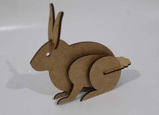 Кролик из натурального дерева