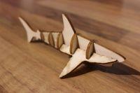 Акула из натурального дерева