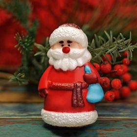 """Пластиковая форма для мыла и шоколада """"Дед Мороз в шубе"""""""