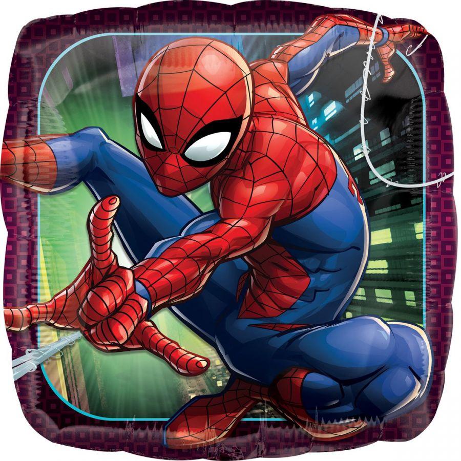 Шар с  гелием человек паук  квадрат
