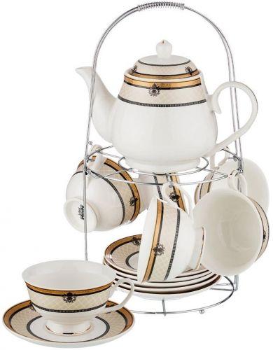 Набор чайный на подставке, 13 предметов