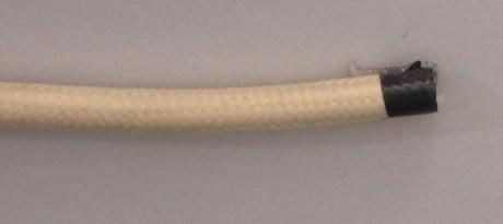 Декоративный провод круглый ПВХ 2х0,75 капучино