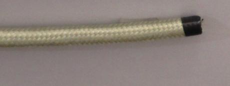 Декоративный провод круглый ПВХ 2х0,75 титан