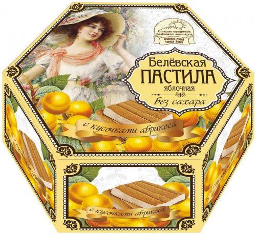 Белёвская пастила без сахара с кусочками абрикоса