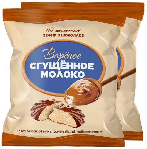 """Зефир """"Вареное сгущенное молоко в шоколаде"""""""