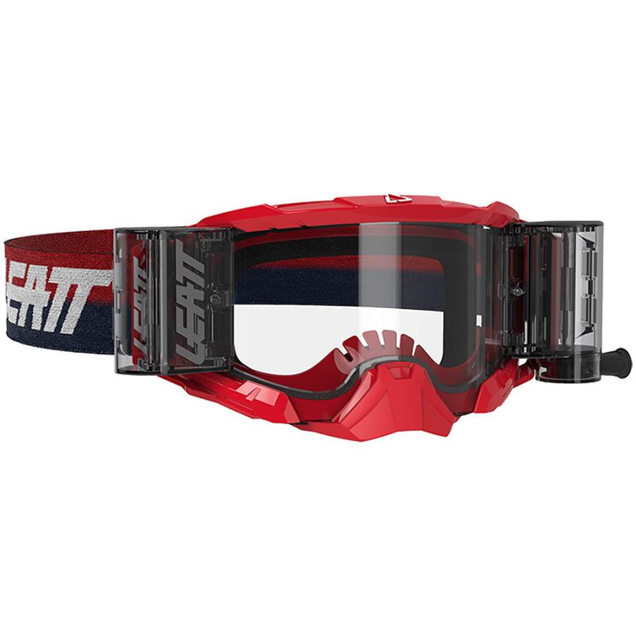 Leatt Velocity 5.5 Roll-Off Red/Clear 83% очки для мотокросса и эндуро с системой грязеочистки