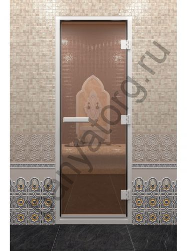 Дверь для хамама бронза