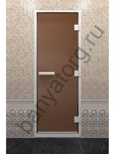 Дверь для хамама бронза матовая