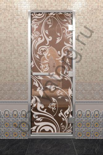 Дверь для хамама Венеция бронза