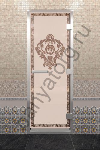 Дверь для хамама Версаче бронза матовая