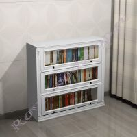 """Книжный шкаф """"Лондон ЛИ белая эмаль без патины"""