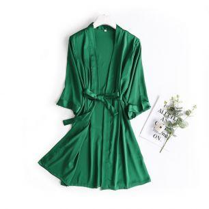 халатик армани шелк, зеленый размер 44,46, модель 665