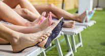 Наклейки на ступни ног Nakefit, чёрный, M