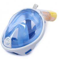 Маска для снорклинга с креплением для экшн-камеры Freebreath, голубой, L/XL