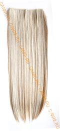 Искусственные термостойкие волосы на леске прямые №F006P/613(60 см) - 100 гр.