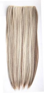 Искусственные термостойкие волосы на леске прямые №F006A/613(60 см) - 100 гр.