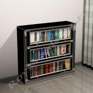 Книжный шкаф Лондон ЛИ черная эмаль